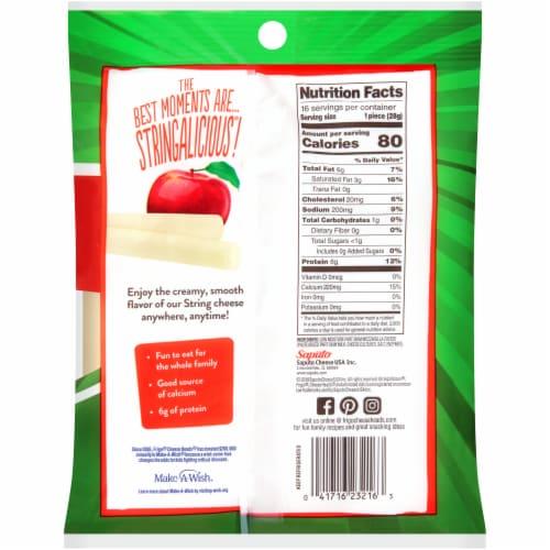 Frigo CheeseHeads Low Moisture Part Skim Original Mozzarella String Cheese Perspective: back