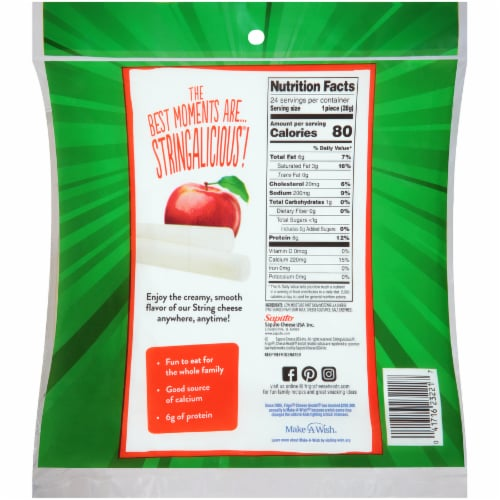 Frigo Cheese Heads Low Moisture Part Skim Mozzarella Original String Cheese Perspective: back
