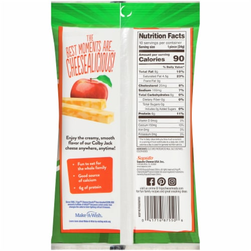 Frigo® CheeseHeads Colby Jack Cheese Sticks Perspective: back