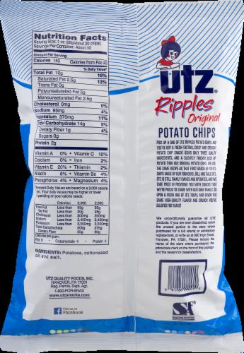 Utz Ripples Original Potato Chips Family Size Perspective: back