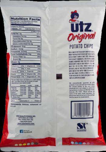 Utz Original Gluten Free Potato Chips Perspective: back