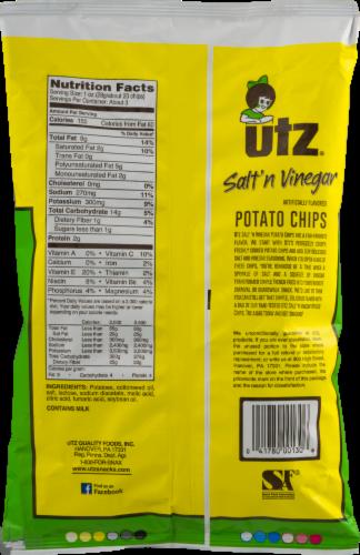 Utz Salt 'n Vinegar Potato Chips Perspective: back