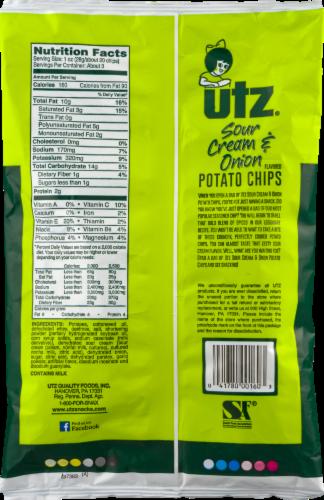 Utz Ripples Sour Cream & Onion Gluten Free Potato Chips Perspective: back