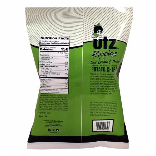Utz Sour Cream & Onion Ripple Potato Chips Perspective: back