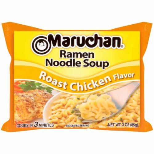 Maruchan Roast Chicken Ramen Noodle Soup Perspective: back