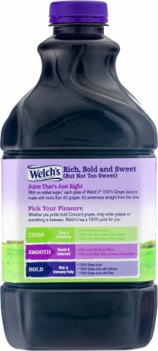 Welch's 100% Concord Grape Juice Perspective: back