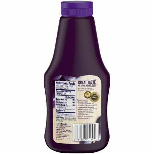 Welch's Natural Concord Grape Spread Sqeeze Bottle Perspective: back