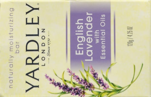 Yardley of London English Lavender Essential Oil Bar Soap Perspective: back
