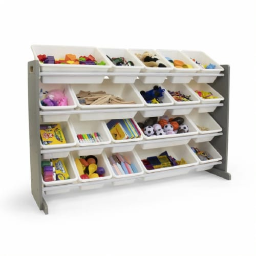 Humble Crew Inspire Extra Large Toy Storage Organizer with Storage Bins - Gray Perspective: back