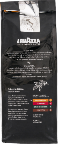 LavAzza Gran Aroma Ground Coffee Bag Perspective: back