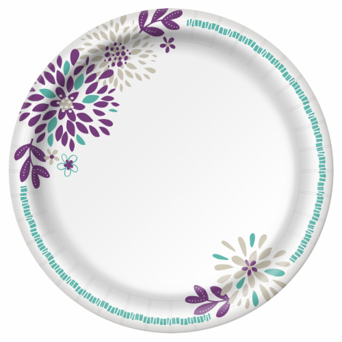 Dixie Everyday 8.5-Inch Disposable Printed Paper Plates Perspective: back