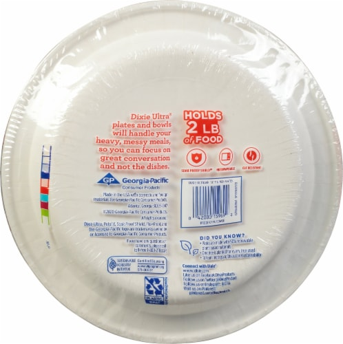 Dixie Ultra 10 Inch Paper Plates Perspective: back