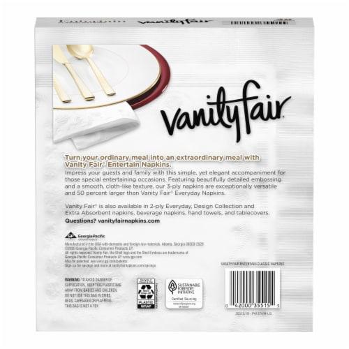 Vanity Fair® Entertain Classic White Napkins Perspective: back