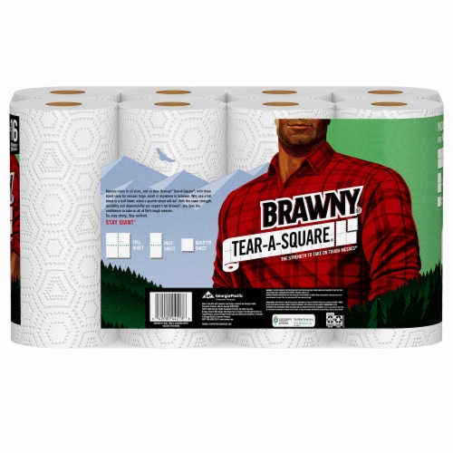 Brawny Tear-A-Square Paper Towels Perspective: back