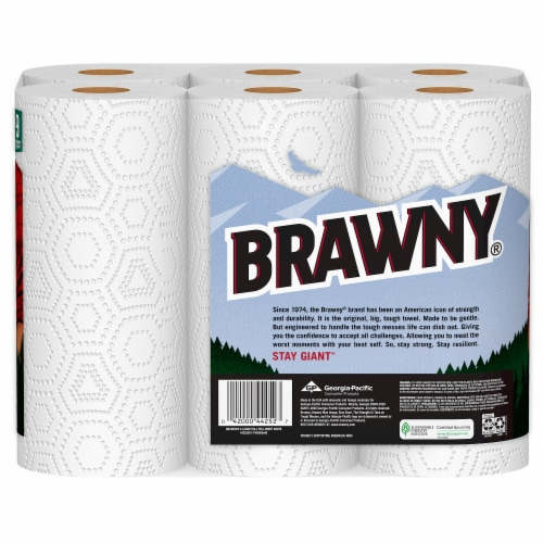 Brawny White Full Sheets Paper Towels Perspective: back