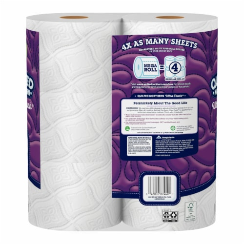 Quilted Northern Ultra Plush 3 Ply White Bathroom Tissue Perspective: back