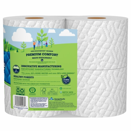 Quilted Northern Ultra Soft & Strong Bath Tissue 4 Mega Rolls Perspective: back