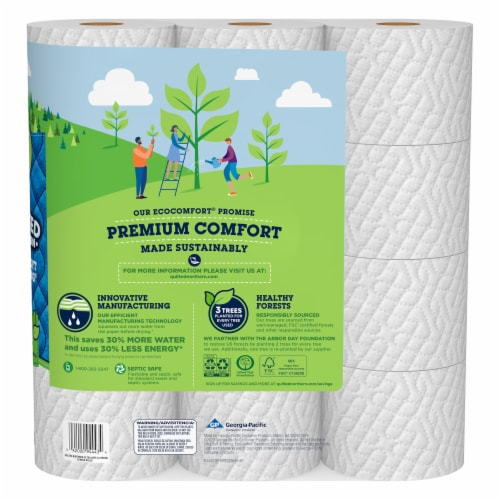 Quilted Northern Ultra Soft & Strong Mega Toilet Paper Perspective: back