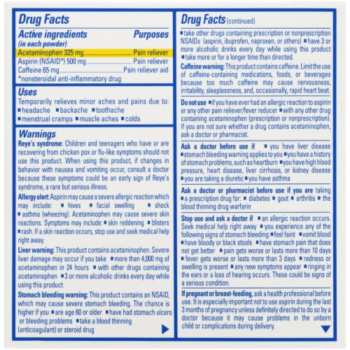 Goody's Cool Orange Headache Powders 24 Count Perspective: back