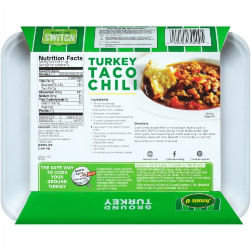 Jennie-O All-Natural 93% Lean Ground Turkey Perspective: back
