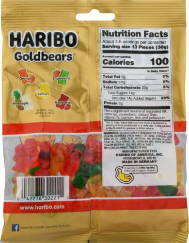 Haribo Gold-Bears Gummi Candy Perspective: back