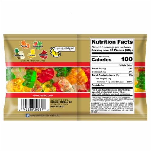 HARIBO Gummies Gold-Bears Perspective: back