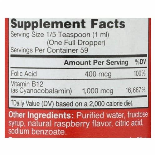 Bricker Labs Blast B12 Natural Raspberry Vitamin B12 and Folic Acid Perspective: back