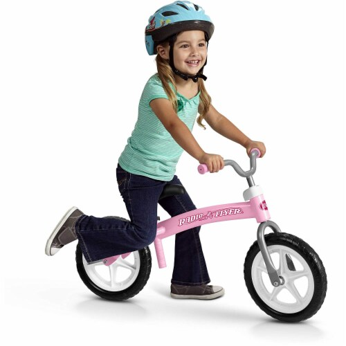Radio Flyer 800X Glide and Go Age 2.5 to 5 Year Old Kids Balance Bike, Pink Perspective: back