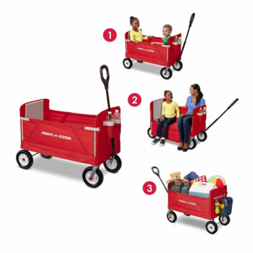 Radio Flyer Off-Road EZ Fold Collapsible Wagon Fabric/Steel - Case Of: 1; Perspective: back