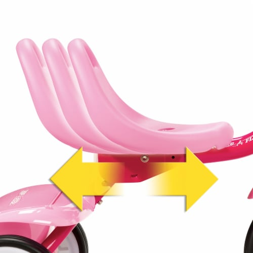 Radio Flyer 415PS Kids Readily Assembled Fold 2 Go Trike with Storage Bin, Pink Perspective: back