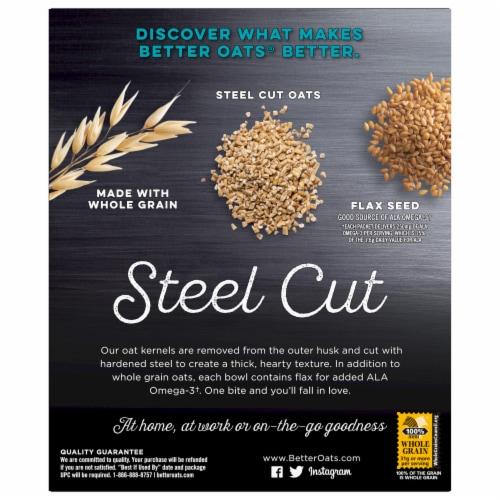 Better Oats Steel Cut Original Instant Oatmeal Perspective: back