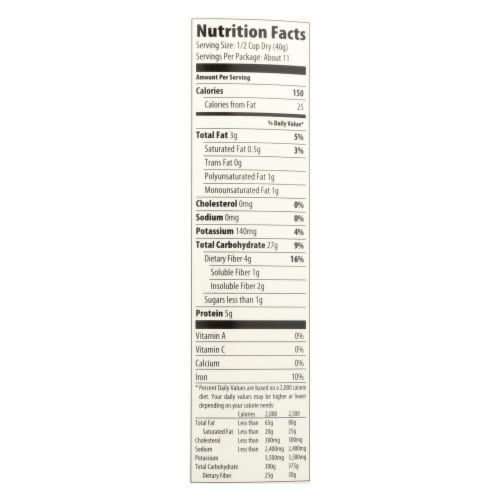 Better Oats Organic Cereal - Old Fashioned Oats - Case of 12 - 16 oz. Perspective: back