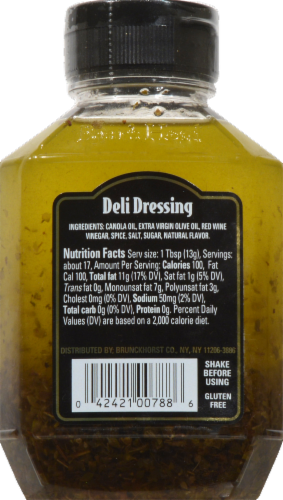 Boar's Head Deli Dressing Perspective: back