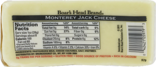 Boar's Head Monterey Jack Cheese Perspective: back