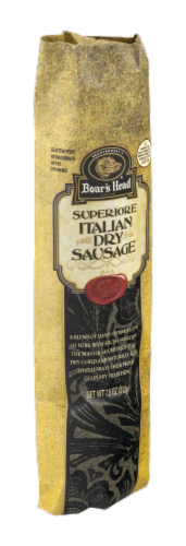 Boar's Head Italian Uncured Dry Sausage Perspective: back