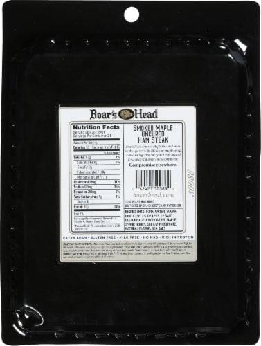 Boar's Head Smoked Maple Uncured Ham Steak Perspective: back
