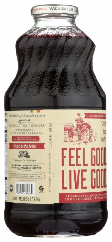 Lakewood Organic Pure Concord Grape Juice Perspective: back
