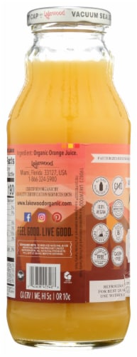 Lakewood Organic Pure Orange Fruit Juice Perspective: back