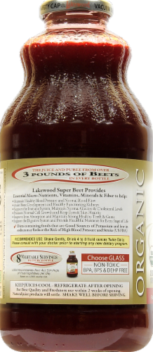 Lakewood Organic Super Beet Juice Perspective: back