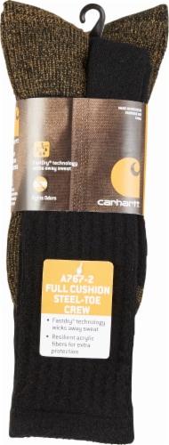 Carhartt® Men's Full-Cushion Steel-Toe Synthetic Work Boot Socks - Heather Black Perspective: back