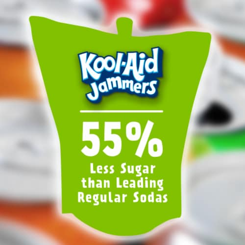 Kool-Aid Jammers Strawberry Kiwi Flavored Drink Pouches Perspective: back