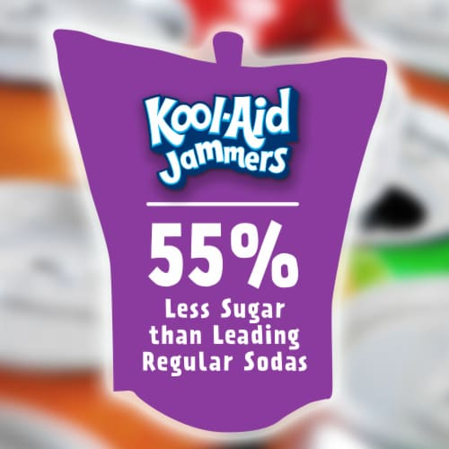 Kool-Aid Jammers Grape Flavored Drink Pouches Perspective: back