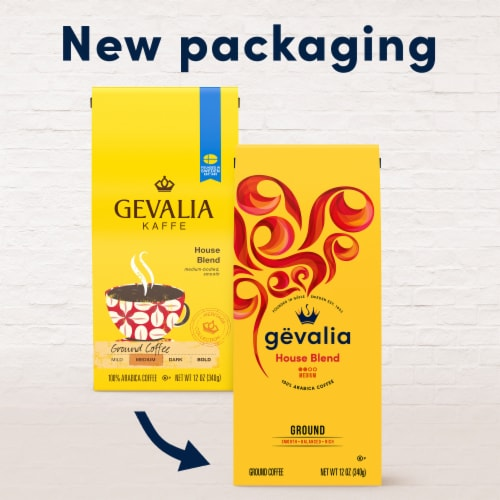 Gevalia House Blend Medium Roast Ground Coffee Perspective: back