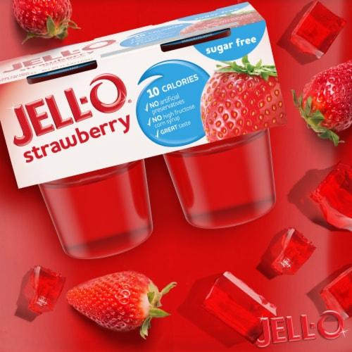 Jell-O® Sugar Free Strawberry Gelatin Snacks Perspective: back