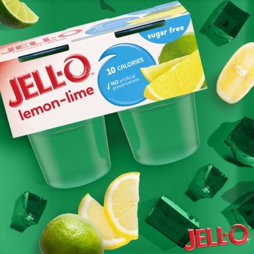 Jell-O® Sugar Free Lemon-Lime Gelatin Snacks Perspective: back