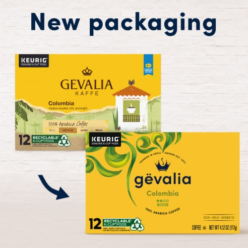 Gevalia Colombian Medium Roast Coffee K-Cup Pods Perspective: back