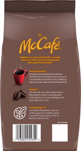 McCafe Premium Roast Medium Ground Coffee Perspective: back