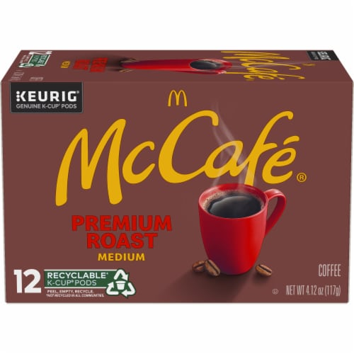 McCafe Premium Medium Roast Coffee K-Cup Pods Perspective: back