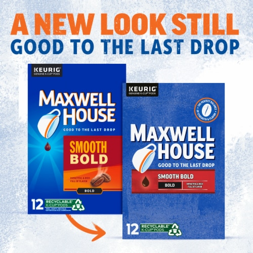 Maxwell House Smooth Bold Coffee K-Cup® Pods Perspective: back