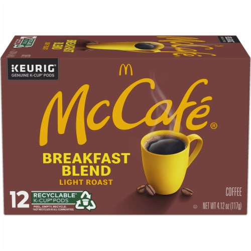 McCafe Breakfast Blend Light Roast Coffee K-Cup Pods Perspective: back